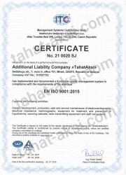 Certificate EN ISO: 9001:2015, EN ISO: 13485:2016